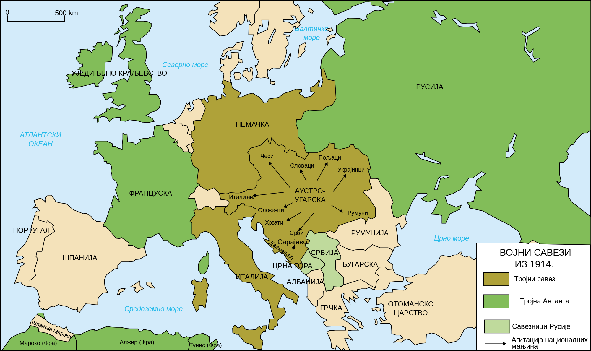 karta evrope posle prvog svetskog rata STO GODINA OD VELIKOG RATA karta evrope posle prvog svetskog rata